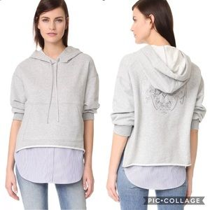 3.1 Philip Lim Combo French Terry Hoodie Embroider